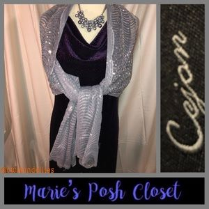 Gorgeous Silver Sequined Wrap